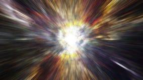 Déplacement par les gisements d'étoile et la supernova dans l'espace - horizon d'événement 0110 HD illustration de vecteur