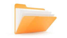 Dépliant avec des fichiers Image libre de droits