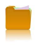 Dépliant avec des papiers Image stock