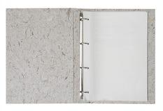 Dépliant avec le papier blanc Image libre de droits