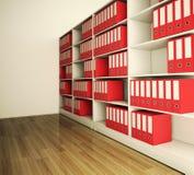 Dépliant d'archives d'étagère Photographie stock libre de droits