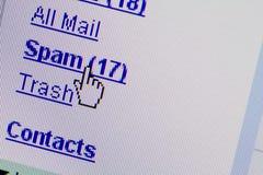 Dépliant de boîte aux lettres d'email de Spam Image libre de droits
