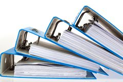 Dépliant de fichier avec des documents et des documents Photographie stock