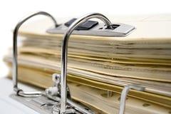Dépliant de fichier ouvert (vue proche) Photo libre de droits