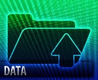 Dépliant de mémoire de sauvegarde de l'information de données illustration stock