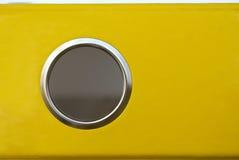 Dépliant jaune Photographie stock libre de droits