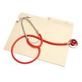 Dépliant médical photographie stock libre de droits