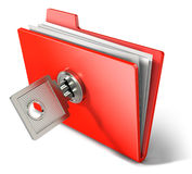 Dépliant privé de documents Photographie stock
