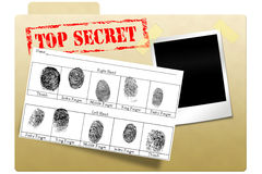 Dépliant secret de document Photo stock