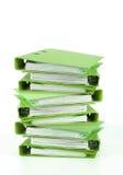 Dépliant vert image stock