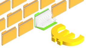 Dépliants avec des objets Image stock