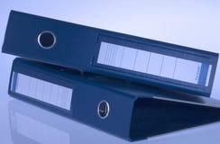 Dépliants bleus Photographie stock libre de droits