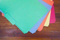 Dépliants colorés Photos stock