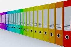 Dépliants colorés d'archives. Image stock