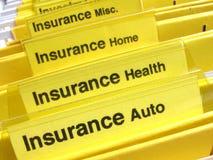 Dépliants d'assurance Photographie stock