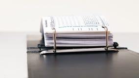 Dépliants de bureau, cahier Photo libre de droits