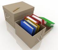 Dépliants de bureau dans le cadre illustration stock