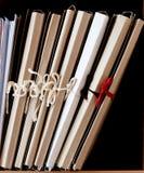 Dépliants de carton avec des papiers Image libre de droits