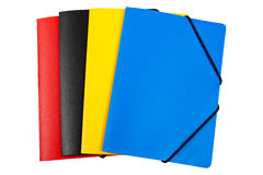 Dépliants de couleur d'isolement Photographie stock