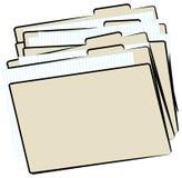 Dépliants de fichier Photos libres de droits