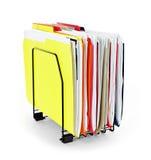 Dépliants de fichier avec des papiers Photo libre de droits
