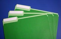 Dépliants de fichier avec les étiquettes blanc Images libres de droits