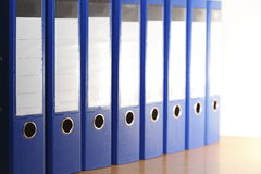 Dépliants de fichier bleus image libre de droits