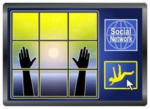 Dépression sociale de réseau illustration de vecteur