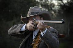 Député avec le fusil photos stock