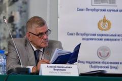Député d'Assemblée législative de St Petersburg, professeur Alexey Vorontsov Photo libre de droits