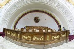 Députés Downtown Caracas Venezuela de la politique du congrès de Capitolio d'Assemblée nationale images stock