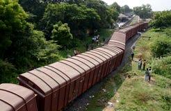 Déraillement de train photographie stock