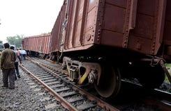 Déraillement de train image stock