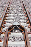 Déraillement protecteur du train. images stock