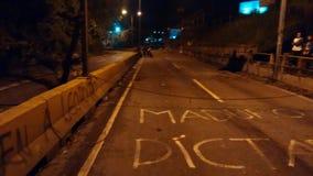 Dérange au Venezuela vis-à-vis de la dictature du maduro San Antonio de los altos, Venezuela Image libre de droits