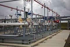 Dérapage sifflant industriel pour doser dans le raffinage et les affaires chimiques Image libre de droits