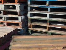 Dérapages en bois Photos libres de droits