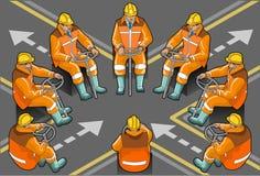 Dérivateur isométrique au travail en huit positions Illustration Stock