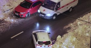 Dérives de neige sur la route clips vidéos