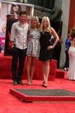 Dérouleur de Chelsea, Jason Bateman, Jennifer Aniston photographie stock libre de droits