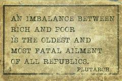 Déséquilibre Plutarch images libres de droits