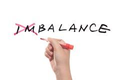 Déséquilibre pour équilibrer le concept photographie stock libre de droits