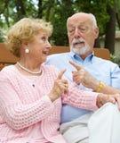 Désaccord aîné de couples Photo libre de droits