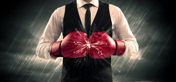 Désaccord de gants de boxe image libre de droits