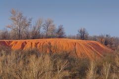 Désagrégation et érosion de surface, terre érodée images stock