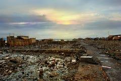 Désastre asiatique de ville Image stock