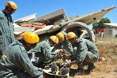 Désastre de secours de construction Images libres de droits