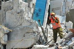 Désastre de secours de construction Photographie stock