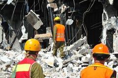 Désastre de secours de construction Photographie stock libre de droits