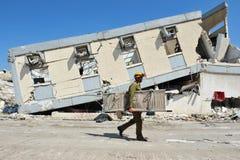 Désastre de secours de construction Image stock